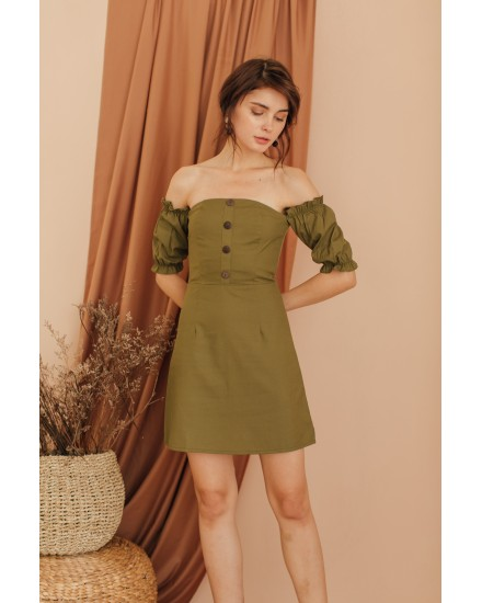 CLAIRE DRESS - ARMY