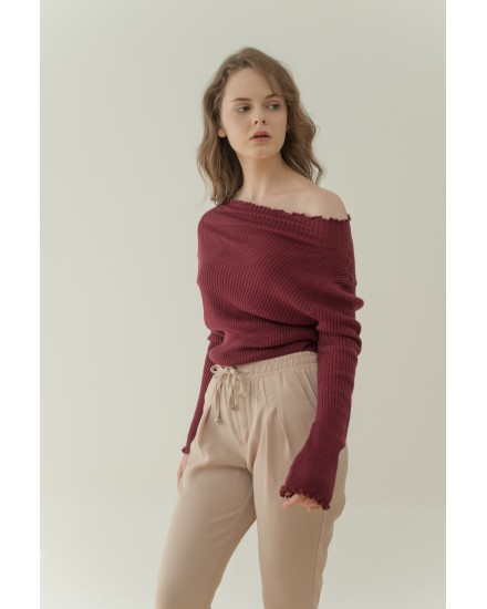TIMBER TOP/BABYDOLL - MAROON