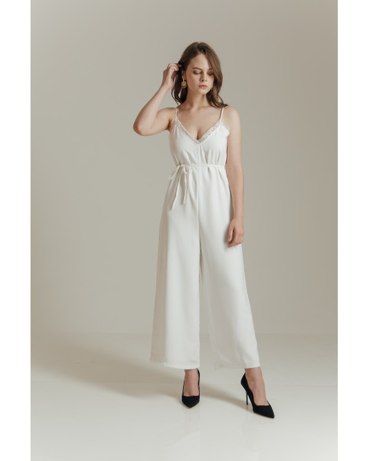 GEORGINA JUMPSUIT - WHITE