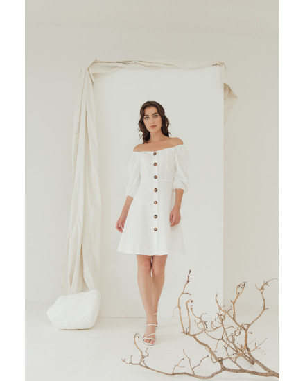 SONYA DRESS - WHITE