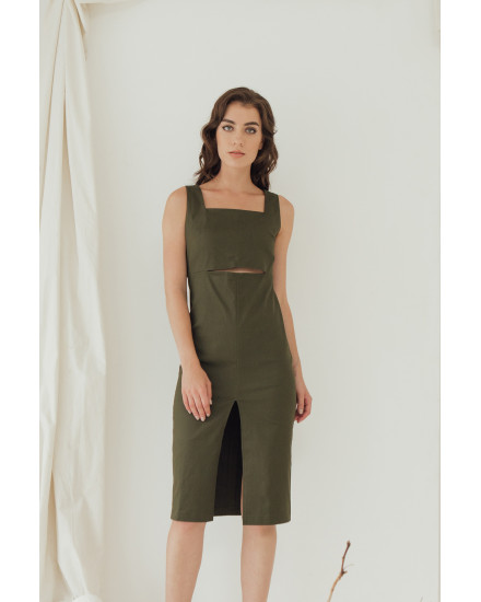 AUBREY DRESS - ARMY