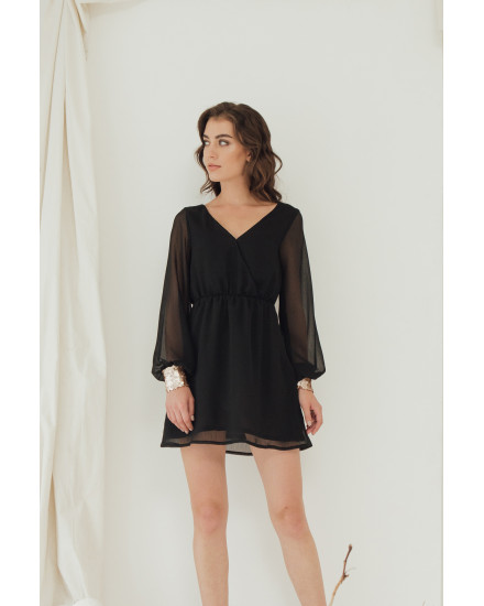 COZI SEQUINED DRESS - BLACK
