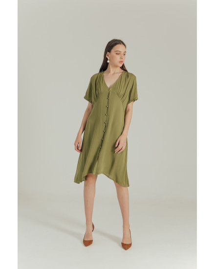 AUDREY DRESS - ARMY