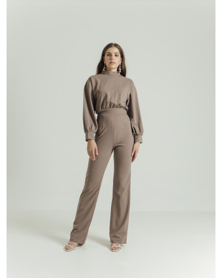 TRAVIS JUMPSUIT - BROWN