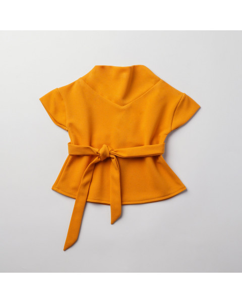 CLAILY TOP - MUSTARD