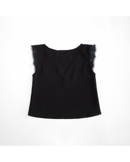 NORA TOP KIDS - BLACK