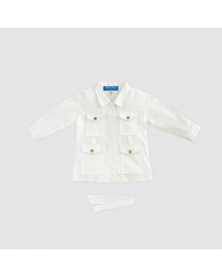 SAVA DRESS KIDS - WHITE