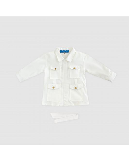SAVA DRESS KIDS - WHITE