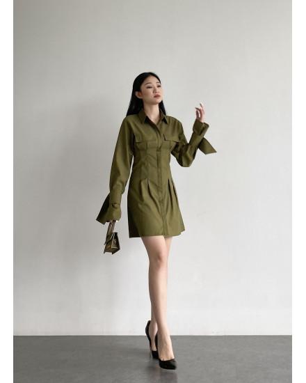 ALBA DRESS - ARMY