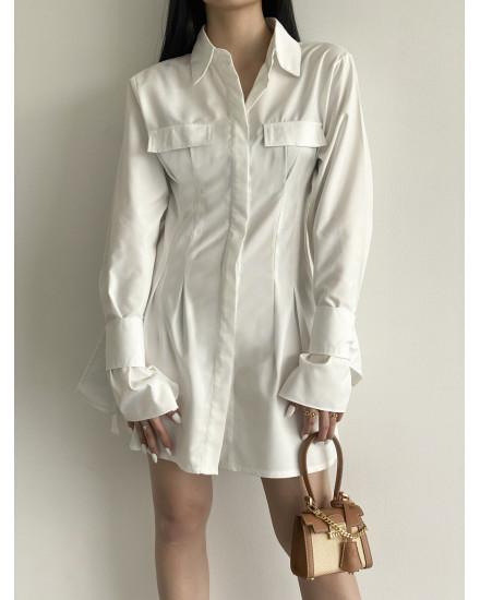 ALBA DRESS - WHITE